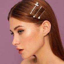 Женские заколки для волос с жемчугом и бабочкой модный элегантный