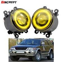 2x Auto Zubehör LED Front Nebel Licht Engel Auge H11 Für Mitsubishi pajero sport 2002 Für Mitsubishi Colt CZC Cabrio (RG)