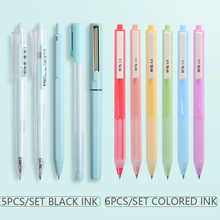 M&G Gel Pen 0.35mm/0.5mm Rolling ball Pen Gift set Quick Drying Morandi Gel Pen Bullet/Needle Tip black ink Stationery