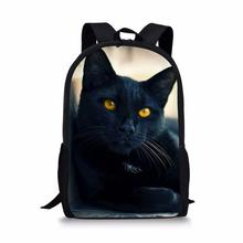 HaoYun Childrens School Bags Black Cats Pattern Primary Student Bookbags Fantasy Animal Back to Satchecl Schoolbags