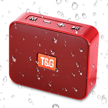 TG166 Wireless Small Bluetooth Speaker Portable with FM radio Mini Speaker Bluetooth 5.0 TF/USB Outdoor Column Soundbox with MIC