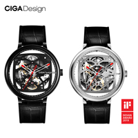 CIGA DESIGN CIGA Watch Double Curved Full Hollow Automatic Mechanical Watch Retro Watch Waterproof Mechanical Watch
