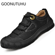 2019 new fashion men's shoes casual genuine leather male solid sneakers lace up shoe man flats shoes for men hot sale size 38-48 цена