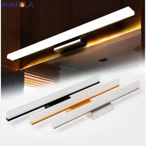 40cm 8w 60cm 12w Sconces Modern Bathroom Lighting Gold Silver Black Led Mirror Light Wall Bathroom Light Fixtures for Make-up