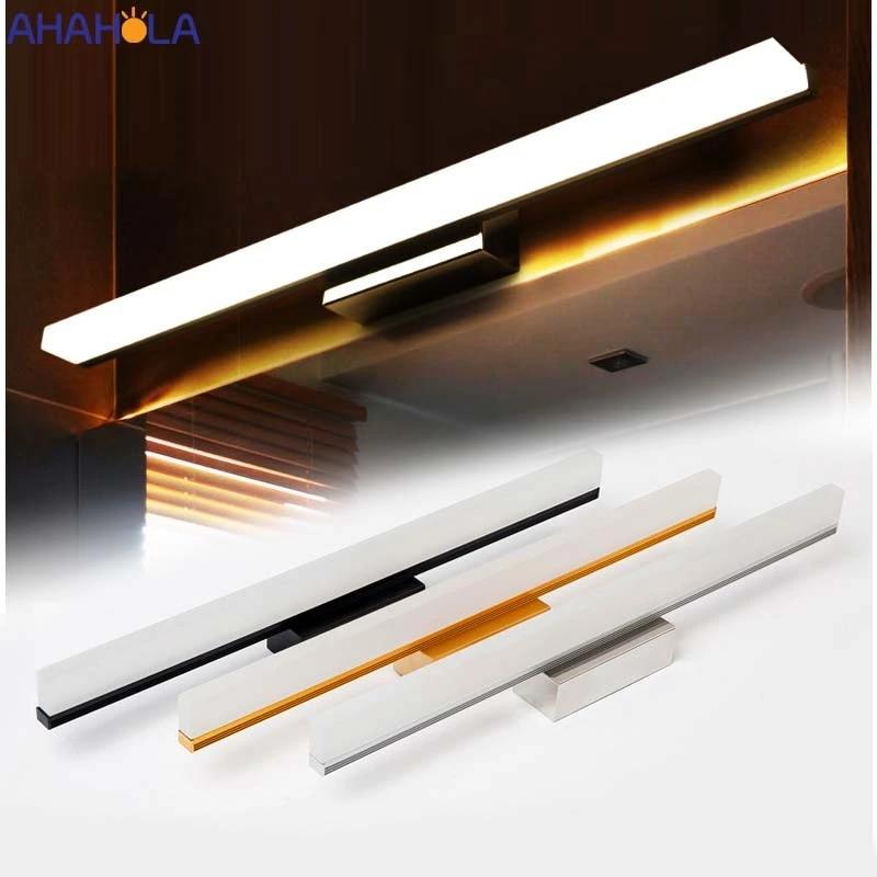 40cm 8w 60cm 12w sconces modern bathroom lighting gold silver black led mirror light wall bathroom light fixtures for make up