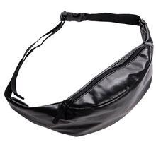 Solid black waist bags leather belt bag 2016 Fashion New who cares molle pouch women pochete bolsa cintura  pouch totes все цены