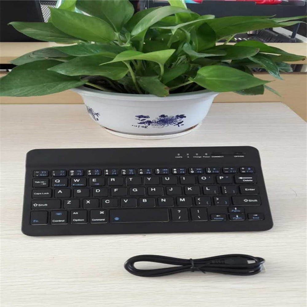 7 Inch Bluetooth 10 Meters Wireless Reception Distance Office Gaming Mouse Keyboard Three Systems Common Keyboard