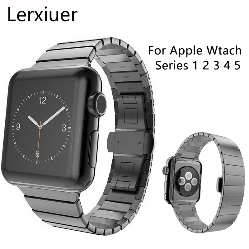Stainless Steel Strap For Apple Watch Band Iwatch 5 4 3 2 1 Band 44mm 40mm 42mm 38mm Watchband Men Bracelet Watch Accessories