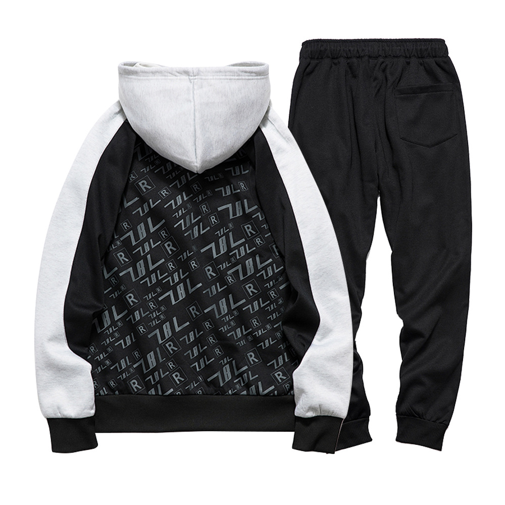 Men Autumn And Winter Sports Two-Piece Casual Sweatshirt Trousers Set Hot Selling Youth Trend Set Men's