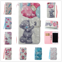 Deluxe Flap Leather Phone for IPhone 6 Plus Wallet Card Slot Cover 6s Pu Holder Stander Painted I6 I6splus Case