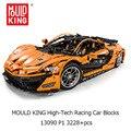 Высокотехнологичный гоночный автомобиль MOULD KING 3228 шт., модель 13090, строительные блоки, кирпичи, Детский развивающий автомобиль «сделай сам», ...
