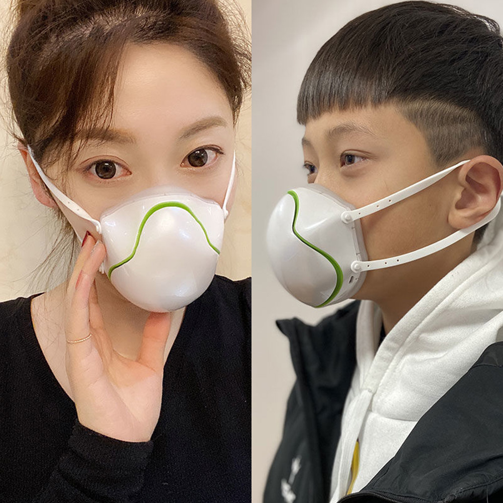 Electric Mouth Face Mask Respirator With Filter PM2.5 Anti Fog Dust Face Mask Fresh Air Purifying Breathable Dustproof Mask