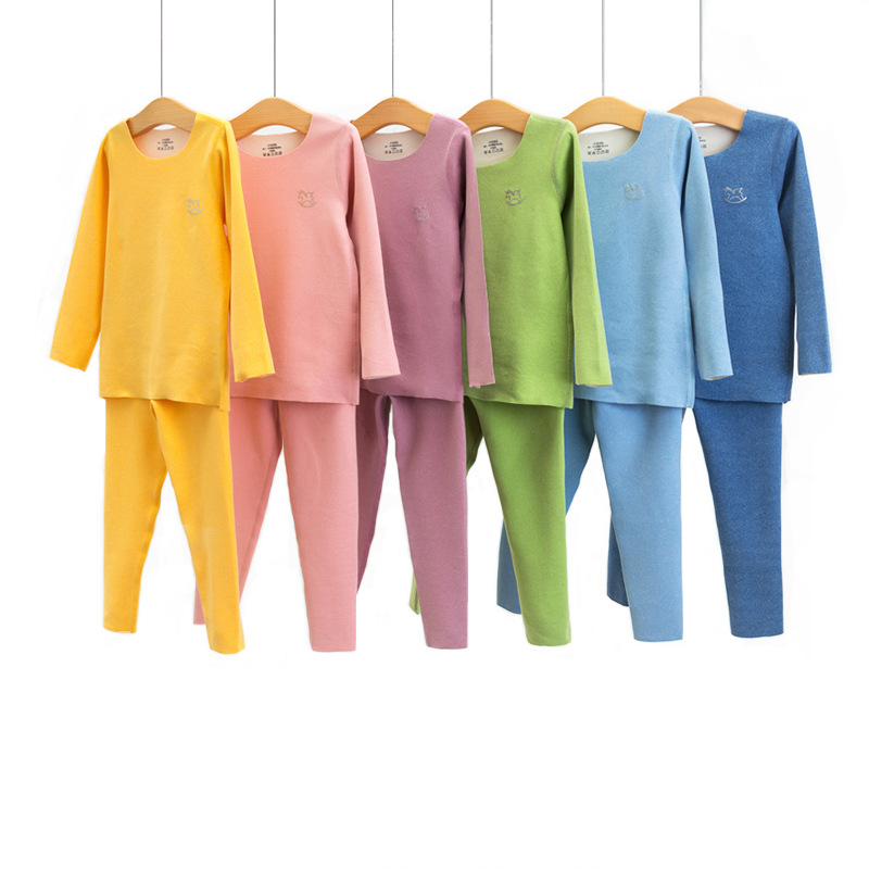 Autumn and winter children boneless thermal underwear heat storage autumn suit CSE01