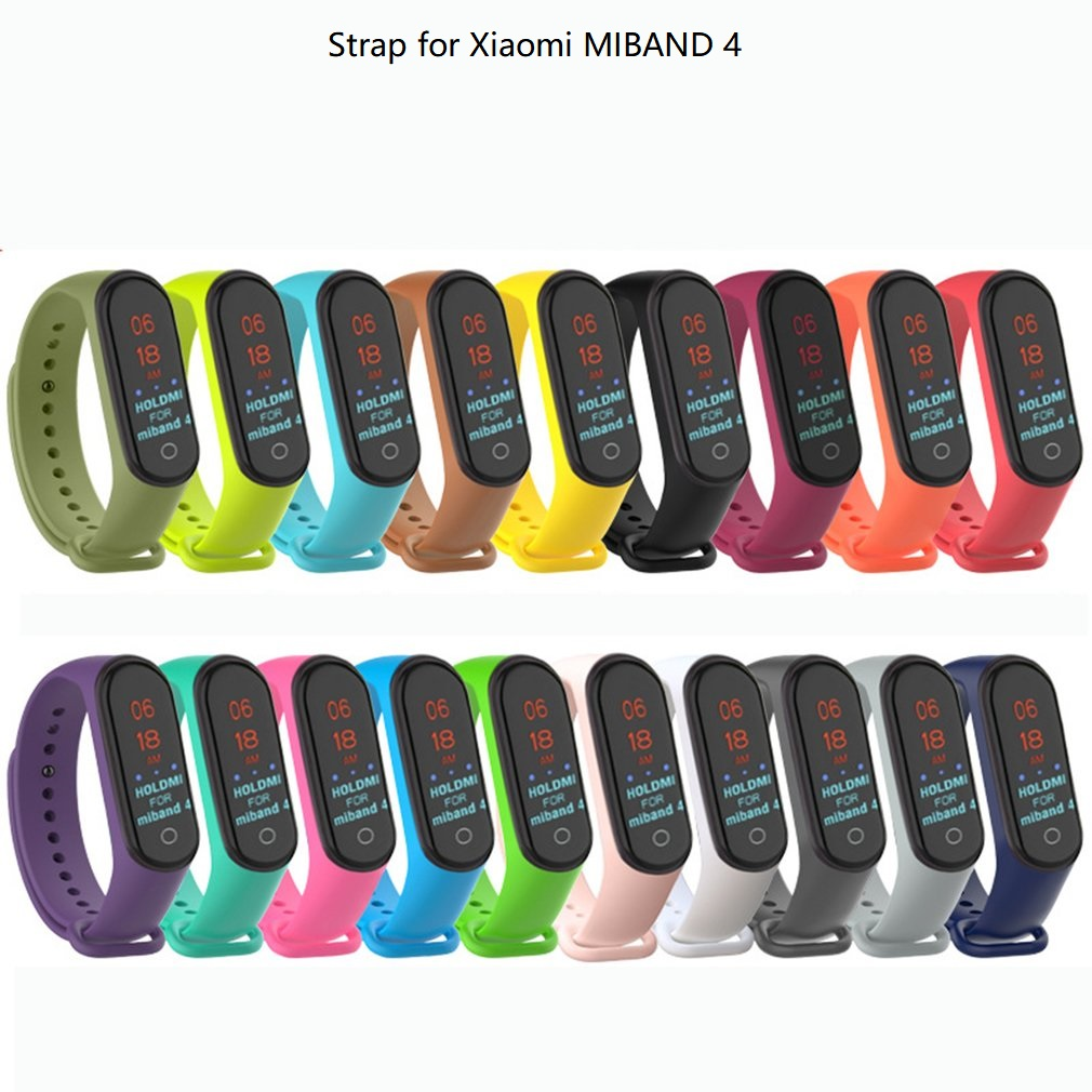 Colorful Mi Band 4 Accessories Pulseira Miband 4 Strap Replacement Silicone Wriststrap For Xiaomi Mi4 Smart Bracelet Wristband(China)