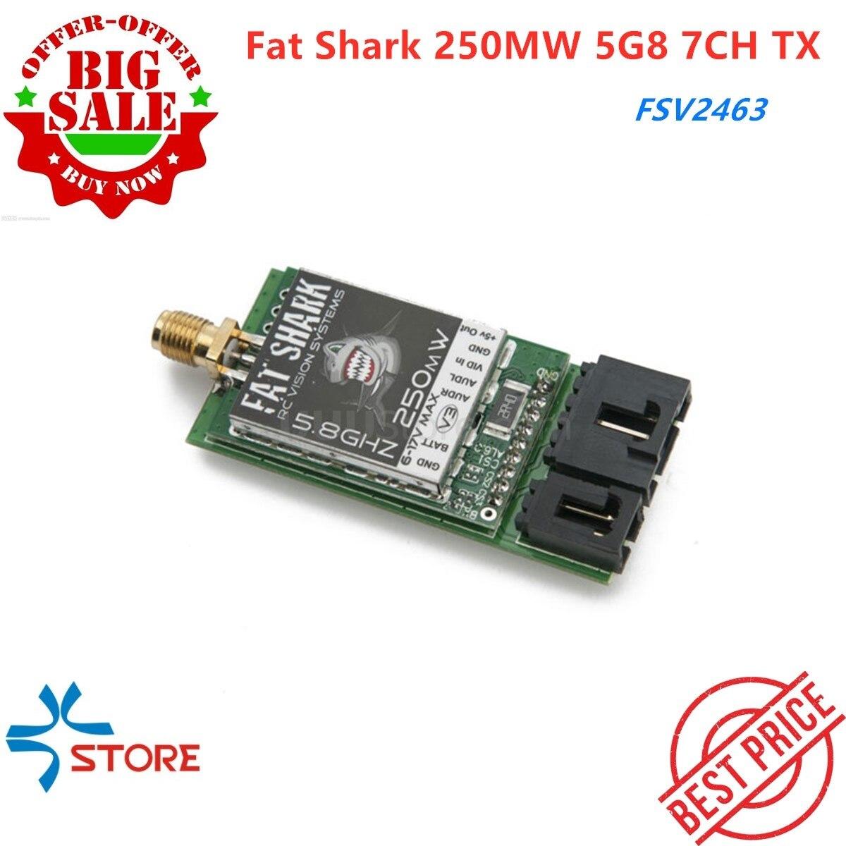 2019 nouveau gros requin 250MW 5G8 5.8 GHZ 7CH TX transmetteur vidéo avec NexwaveRF FSV2463 pour les systèmes FPV Fatshark