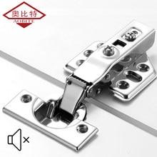 AOBT-bisagra de acero inoxidable para puerta de armario, amortiguador de bisagras hidráulicas, Cierre Suave, 1 Uds.