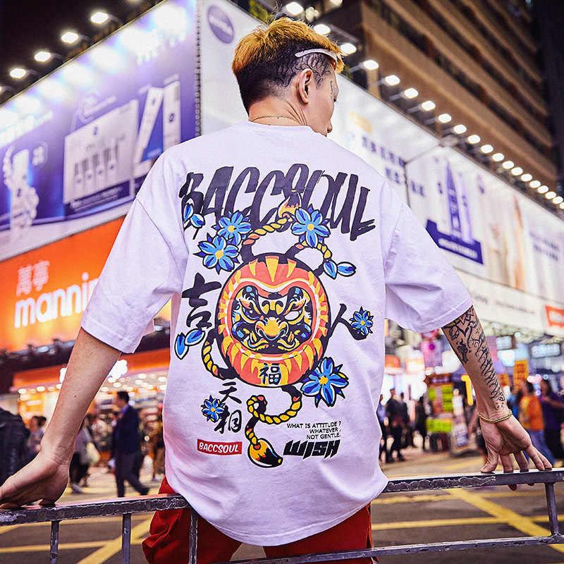 Spezielle Japanische Flut marke kurzen ärmeln männer und frauen sommer straße hip hop T-shirt Chinesischen stil liebhaber mit halb ärmeln