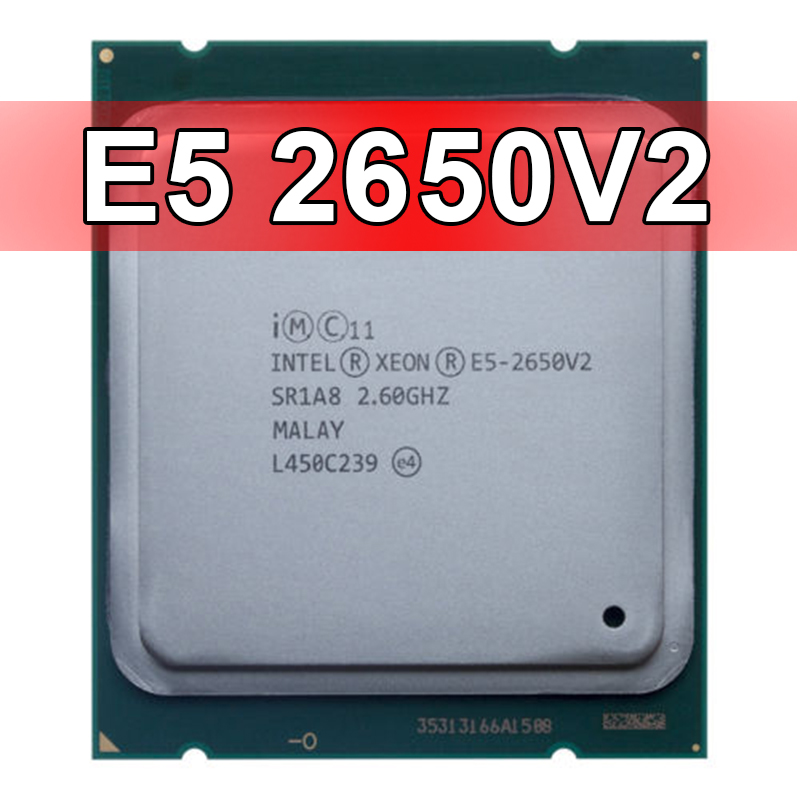 Intel Xeon E5 2650 V2 Processor 8 CORE 2.6GHz 20M 95W E5 2650 V2 SR1A8 CPU-in CPUs From Compute Sell E5 2689