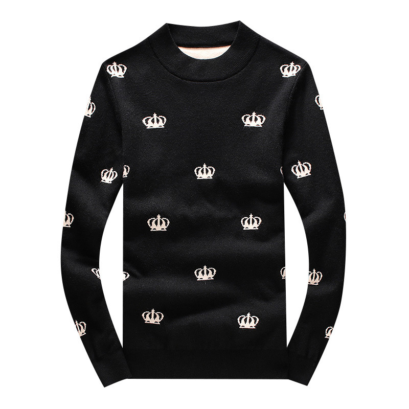 New 2019 Men Luxury Winter Hot Crown Full Embroidered Casual Sweaters Pullover Asian Plug Size High Quality Drake #N50