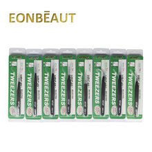 10 PCS EONBEAUT VETUS ESD Series Eyelash Tweezers Anti-static Stainless For Eyelash Extension Ultra Precision Eyebrow Tweezers