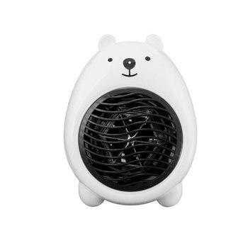 Mini Cartoon Bear Heater Handheld Fan Heater Office Household Electric Heater Fast Heating Fan Warmer Machine For Home Bedroom mini fan heater portable household fan heater 500w compact personal space heater remote control fan heater