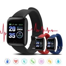 Reloj inteligente D13 para hombre y mujer, dispositivo deportivo resistente al agua con control del ritmo cardíaco, para Android e iOS, 116 Plus