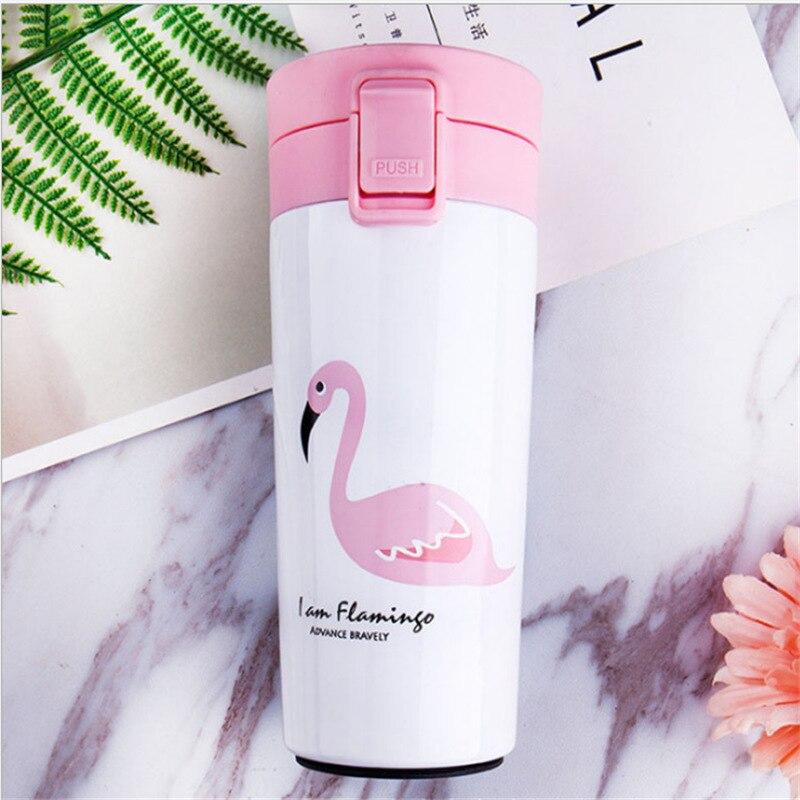 Cartoon-Stil Großen Mund Kaffee Tasse Isolierte Edelstahl Flasche Geräumige shang wu bei Portable Tasse Paare