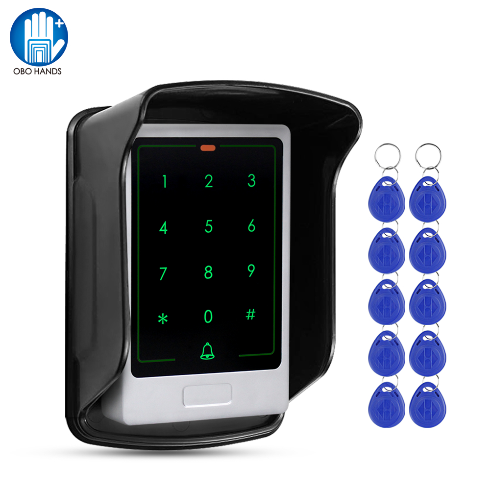 RFID Access Control Keypad Touch Metal Keyboard WG26 Backlight Waterproof Outdoor Door Opener Electronic Lock System Kit 10 Keys