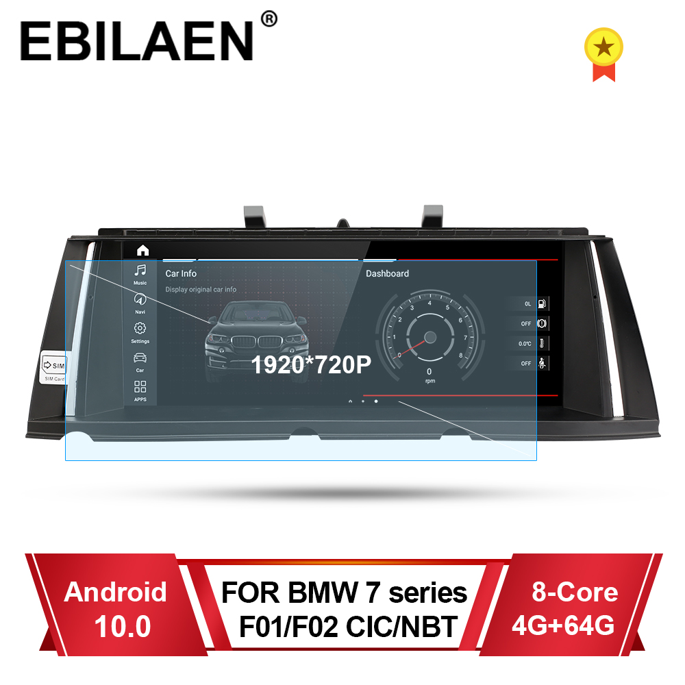 Car Multimedia Player For <font><b>BMW</b></font> 7 Series F01 F02 CIC NBT 2009-2015 Autoradio Android 10.0 Navigation Stereo GPS 4G 10.25' Screen image