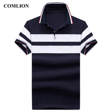 Clothing Shirts Striped Cotton High-Quality Short-Sleeve Business-Tops Casual Mens You-Can-Add-Logo