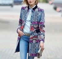 Coat Female 2019 Autumn Women Casual Warm Cashmere Coat Ladies Work Office Elegant Vintage Print Plaid Long Wool Blends Coats