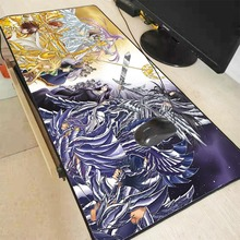 Yuzuoand gran PromotionCustom piel Saint Seiya, juego o Oficina alfombrilla antideslizante de costura Mousepad de gran tamaño lavable cojín de ratón