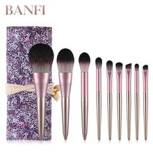 Makeup Brush Set 9pcs Cosmetic Professional Face Eye Shadow Eyeliner Foundation Blush Lip Brushes