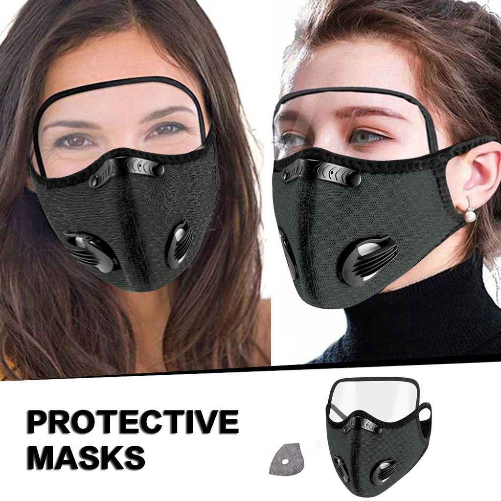 Face-Mask Eyes-Shield Mouth-Protective-Cover 1-FILTER Breathable with Unisex Dust-Proof