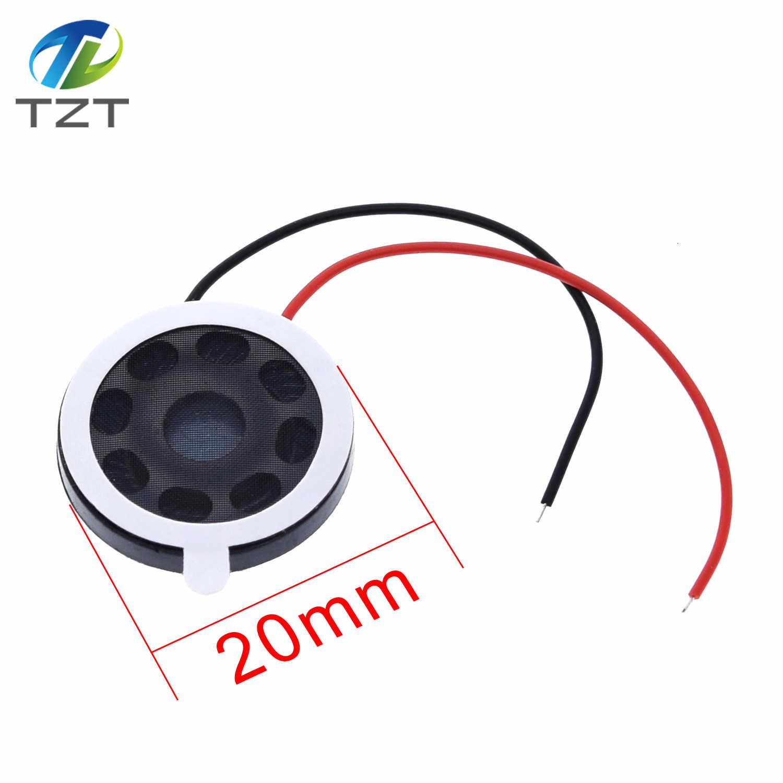 TZT الجولة 8 أوم 1 واط المتكلم 8ohm 20 مللي متر بصوت عال مكبرات الصوت الهاتف المحمول صغير مكبر الصوت الصوت