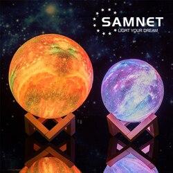 2021 Прямая поставка, светодиодная лампа с 3D рисунком Галактики, Ночной светильник с сенсорным управлением, Звездный проектор, лунные лампы д...