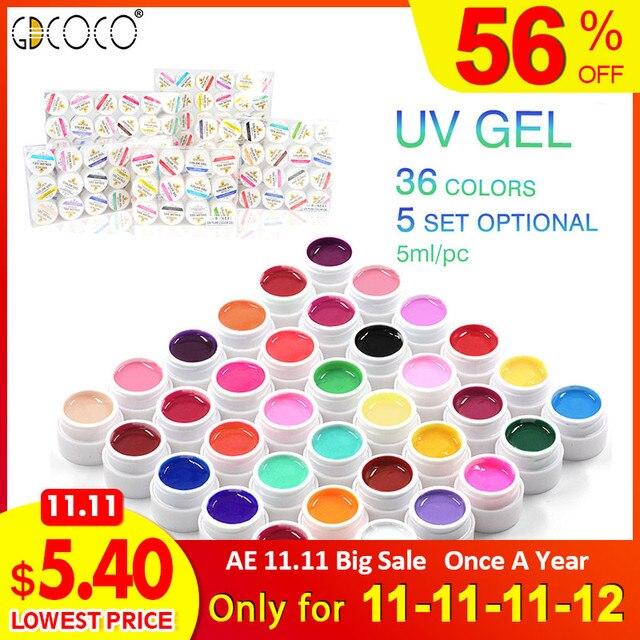 Uñas Nuevas Gdcoco Color Puro Gel Uv Pintura Arte De Uñas