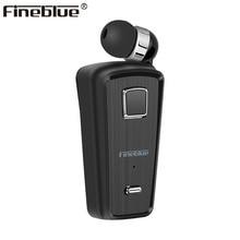 Fineblue F980 bluetoothイヤホンワイヤレスイヤフォンビジネスヘッドセットマイクで通話思い出させる振動摩耗クリップドライバーステレオスポーツ