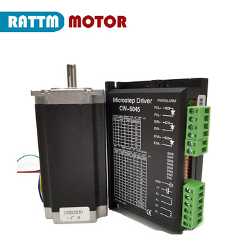 Nema 23 stepper motor with encoder 23HS2430 112mm 425 Oz-in, 3A with CW5045 Stepper motor driver image