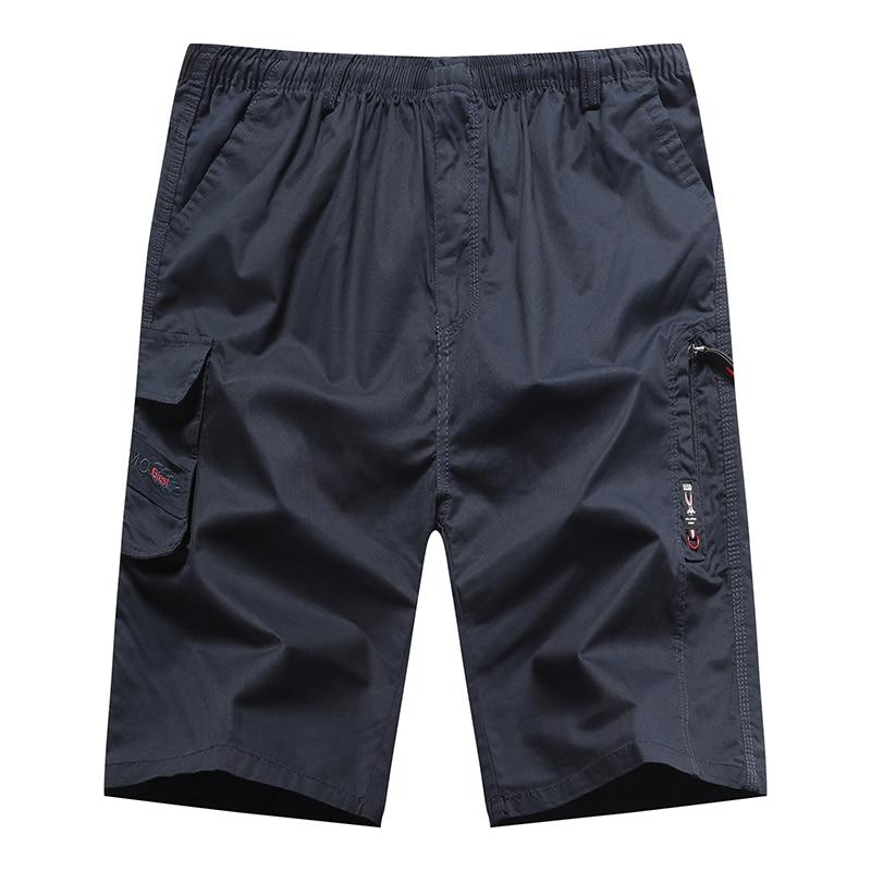 Men Pants Fashions Cargo Pants Men Cotton Safari Style Calf-Length Pants Midweight with Zipper Pockets Men's Trousers XL-4XL New