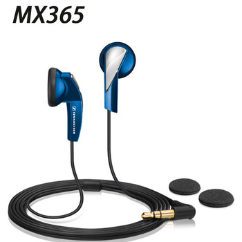 MX365 Flat Headphone Stereo Phone Music Headphones Earplugs Wired In-Ear Powerful Bass Blue