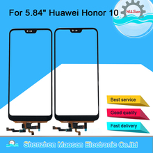 "5.84"" Original M&Sen For Huawei Honor 10 Front Glass Touch Screen Panel Digitizer Honor 10 With Fingerprint Home Sensor"