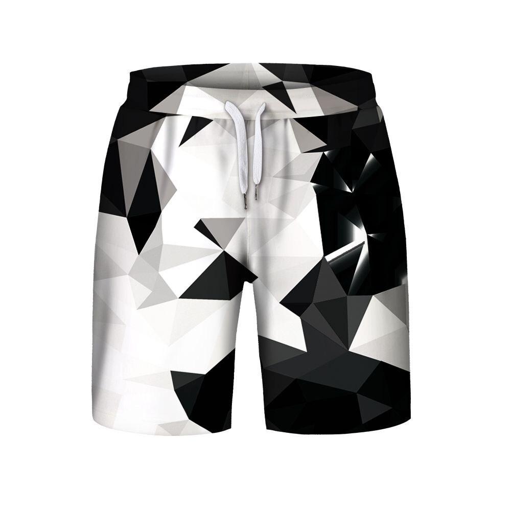 OKKDEY 2020Star Sky 3D Digital Printing Men's Sports Casual Shorts Summer Fashion Brand Drawstring Pants Mens Clothing