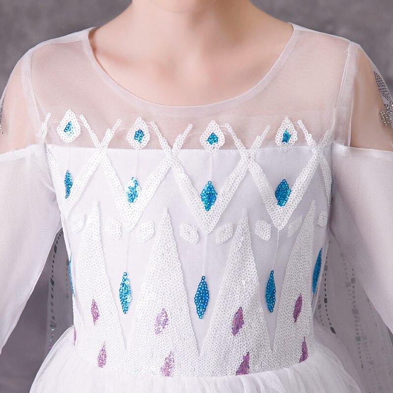 Image 2 - Menina princesa congelado neve rainha elsa festa cosplay traje vestidoFantasias p/ meninas   -