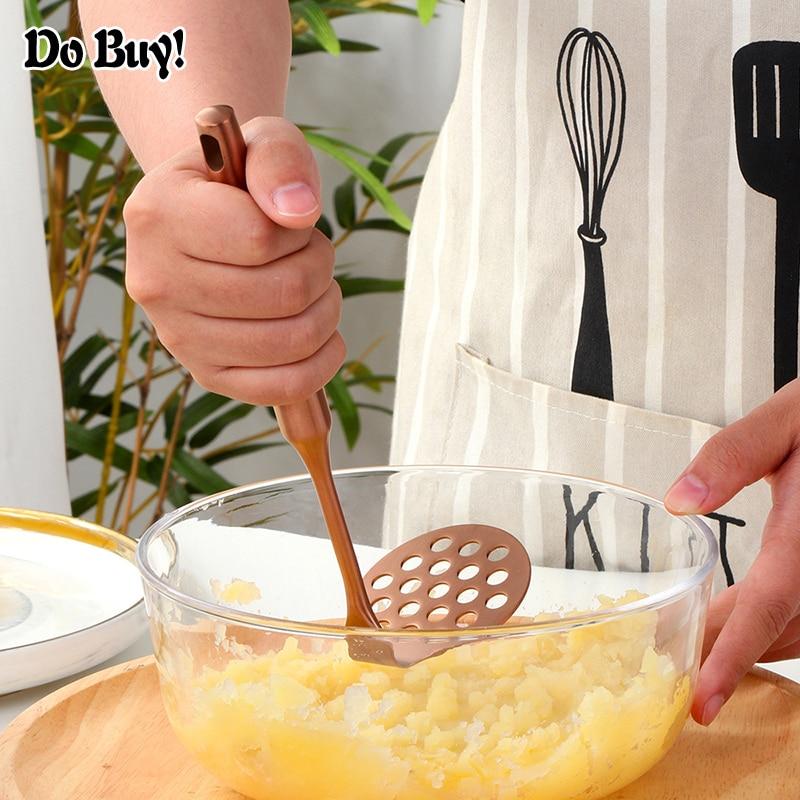1 Pcs Potato Crusher Stainless Steel Smooth Mashed Potatoes Fruit Vegetable Tool Press Crusher Kitchen Tool