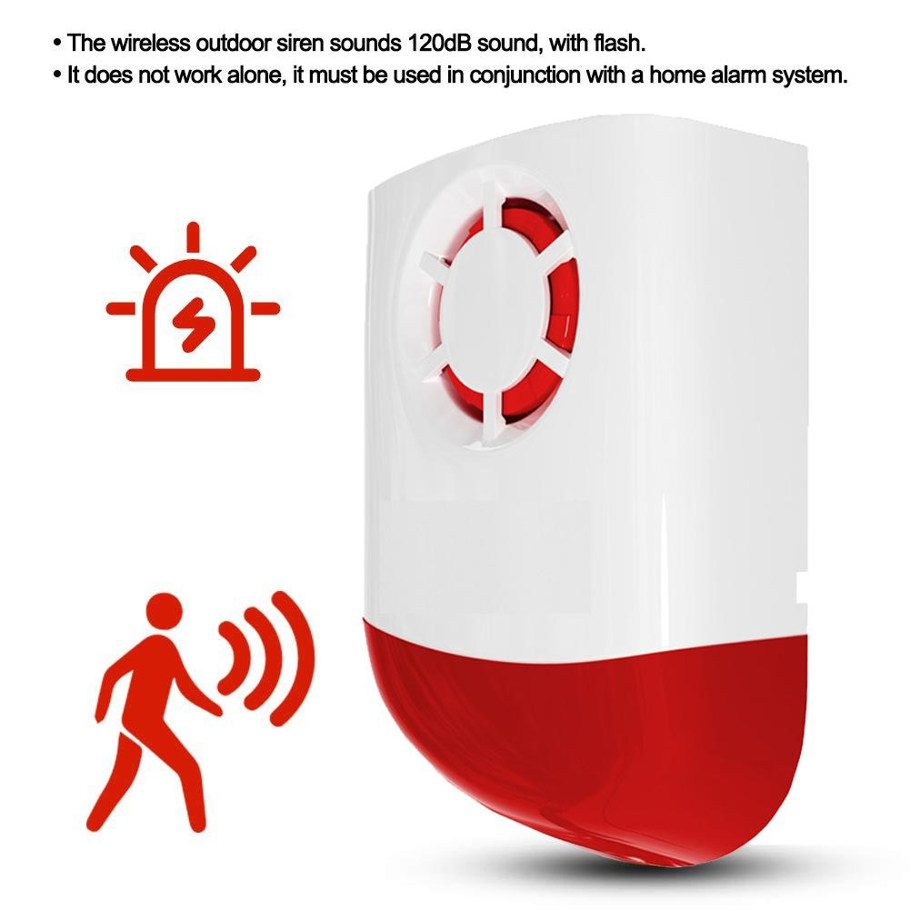 120dB Outdoor Siren Wireless Sound And Light Alarm 433/315 MHz Alarm For Home Security
