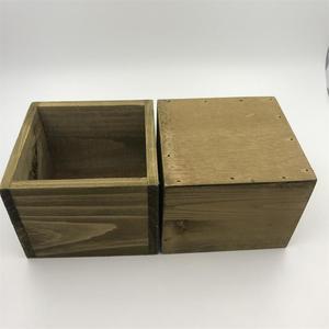 Image 3 - 8 unids/lote D11xH8CM cubo caja de madera cajas de almacenamiento de madera SF 05225