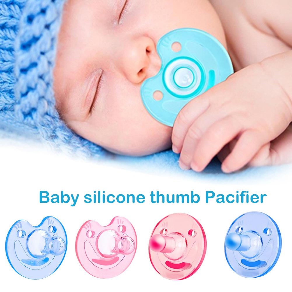 Silicone Baby Smiling Face Round Pacifier Orthodontic Dummy Teat Nipple Soother