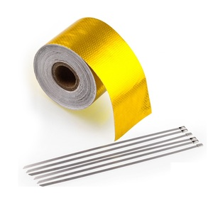 Car Thermal Exhaust Tape Air Intake Heat Insulation Shield Wrap Reflective Heat Barrier Self Adhesive Engine High-Temperature