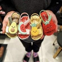 Chegou! Melissa meninas sandálias geléia desenhos animados melancia sapatos bebê meninas sandálias anti-skid melissa sandálias de praia crianças sapatos novos!
